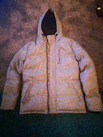 Light Grey Man's Padded Winter Coat - Medium size