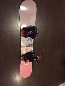 Sims Women's snowboard with new bindings