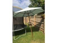 Large round garden parasol