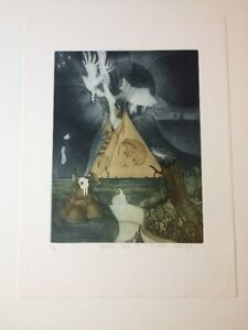 MICHAEL ROBINSON -Native Artist- Etchings & Original pen and ink