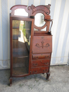 Exceptional Antique (c1910) Bowfront  Side by Side