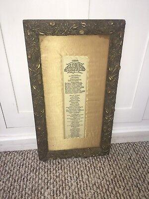 1888 Republican Ticket Benjamin Harrison Silk Cloth Framed Original