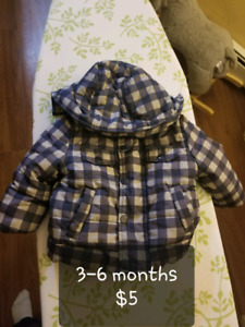 Infant winter jacket and snow suits