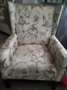 Mint condition high backed chair hardly even ever sat on
