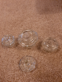 Octagonal dishes in glass