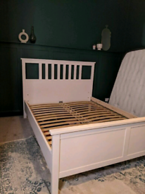 IKEA HAMNES white double bed frame