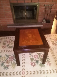 End Tables: Beautiful etched flower design London Ontario image 3