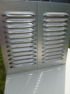 "PAIR  WALL VENTILATORS, 19"" L X 11"""