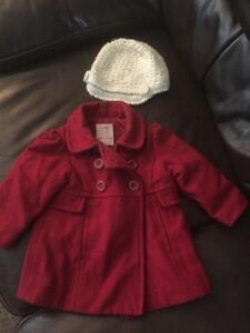 Girls 12-18m coat and hat