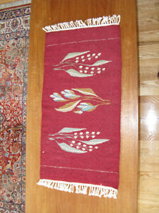 Hand woven wall hanging/  table runner/ piano bench cover