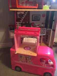 Barbie camper with pool slide and more Kingston Kingston Area image 1