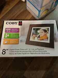 "Coby 8"" Digital Photo Frame - never used"