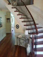 Staircase and Railings in Solid Hardwood