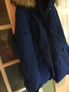 Brand new Ladies Blue Fur Hooded Alpinetech Jacket