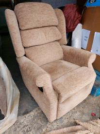 Chair - Quality Extra Comfy HSL Light Brownish Fabric Chair. It doesn'