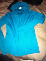 Pink and blue zip up cardigans **brand new**