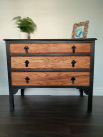 SOLD! Painted chest of drawers. Free local delivery available.
