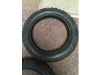 "Off road nobbly tyres 3.00 12"" fit stomp pit bike or similar."