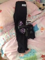 Kids size small riding pants and gloves