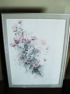 LISTED CANADIAN ARTIST ''MOLLY LAMB BOBAK'' COSMOS  PAINTING