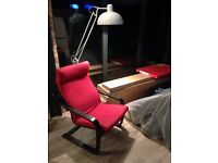 IKEA poang black and red chair. Retro vintage chic modern classic