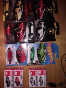 Hot wheels and tomy 1/64 scale cars look