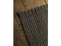 Grey soft modern rug