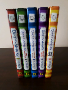 5 HARDCOVER Diary of a Wimpy Kid Series
