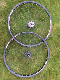 DT Swiss. X430 26 inch wheels on shimano hubs.