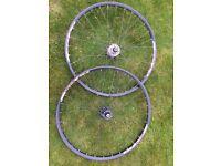 St Swiss. X430 26 inch wheels on shimano hubs.