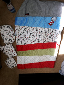 Dr Seuss Cat in the Hat crib/toddler bedding