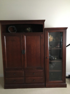 TV Hutch and display cabinet