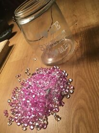 HOME sweet home jar with diamonds
