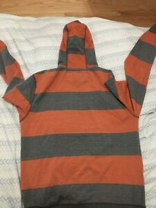 Medium grey and orange striped sweater London Ontario image 3