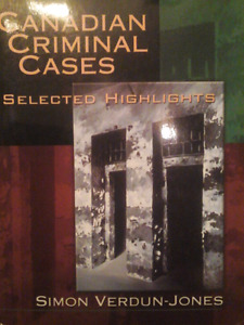 Canadian Criminal Cases Textbook