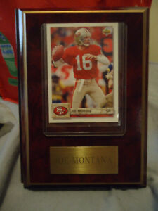JOE MONTANA SAN FRANCISCO 49ers PLAQUE