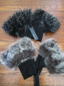 new winter accessories boot toppers, gloves, faux fur hand warme