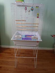 Cage pour oiseaux et accessoires