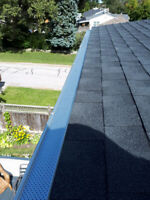 LEAF GUARD FOR EAVESTROUGHS AND  INSTALLED