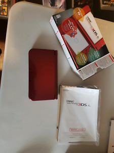 Modded N3ds xl (Red) + charger