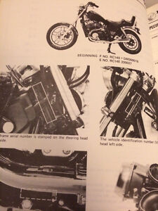 1983 Honda VT750C Shadow Shop Manual Regina Regina Area image 3