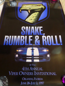 4th Dodge Viper Owners Invitational Poster