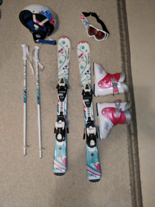 Girls ski set