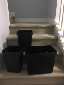 Ikea Utrusta Pull-out try with bins and lids