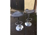 BLACK CHROME BAR STOOLS NEEDS RECOVERING ** FREE DELIVERY AVAILABLE TONIGHT **