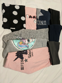 Girls bundle (9 items) Age 9 hoodies, tops, leggings