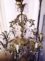 8 arm solid brass chandelier GET ANOTHER THING FOR HALF PRICE