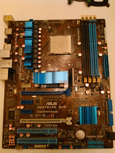 ASUS mother board, 8gigs crucial ram, AMD phenom ll, Antec 920