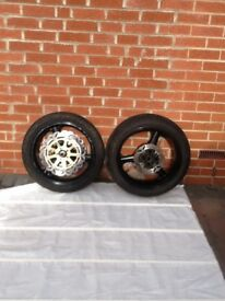 Set of Kawasaki zx9r wheels