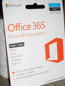 Microsoft Office 365 Personal (PC/Mac) - 1 User - 1 Year - Eng